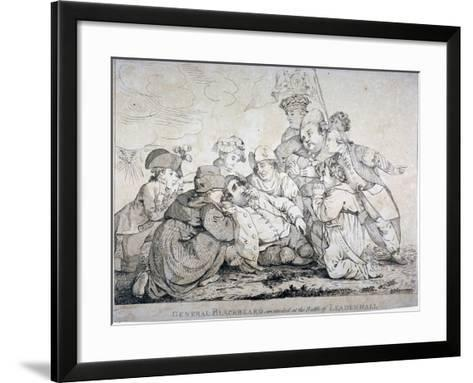 General Blackbeard Wounded at the Battle of Leadenhall, 1784-John Boyne-Framed Art Print