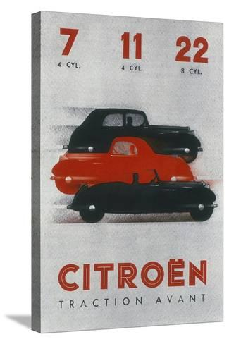 Poster Advertising Citro?n Cars, 1934--Stretched Canvas Print