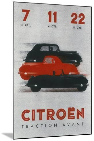 Poster Advertising Citro?n Cars, 1934--Mounted Giclee Print