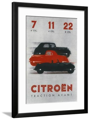 Poster Advertising Citro?n Cars, 1934--Framed Art Print