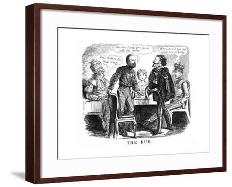 Discussion over the Future Ruler of Unified Italy, 1860--Framed Art Print