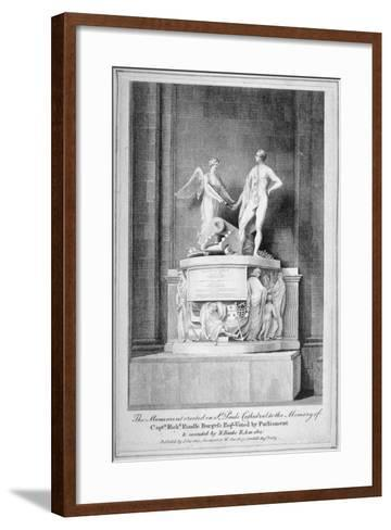 Monument to Captain Richard Rundle Burges, St Paul's Cathedral, City of London, 1803--Framed Art Print