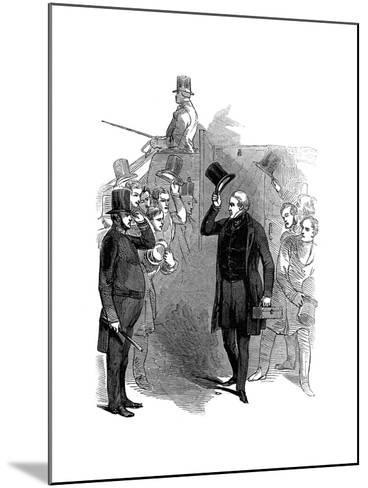 Robert Peel, British Statesman, Arriving at the House of Commons, London, January, 1846--Mounted Giclee Print