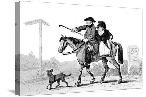 The Constant Couple, 1786--Stretched Canvas Print