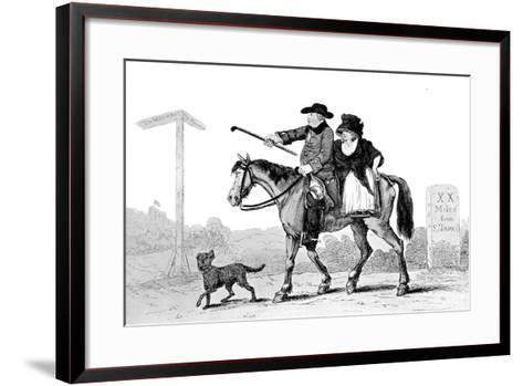 The Constant Couple, 1786--Framed Art Print