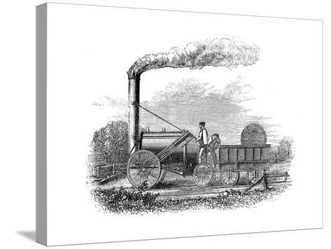 George Stephenson's Locomotive Rocket, 1829--Stretched Canvas Print