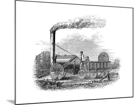 George Stephenson's Locomotive Rocket, 1829--Mounted Giclee Print
