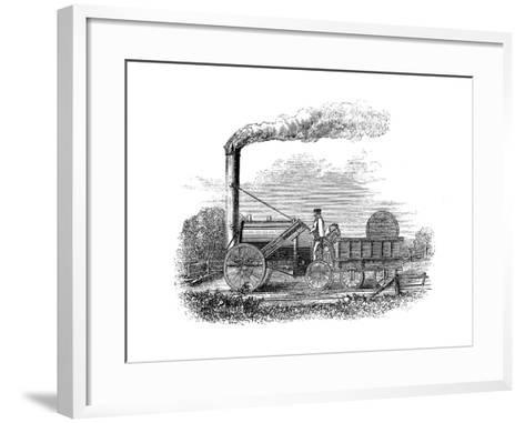 George Stephenson's Locomotive Rocket, 1829--Framed Art Print