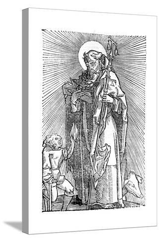 St Anthony the Great, Egyptian Aesthetic--Stretched Canvas Print