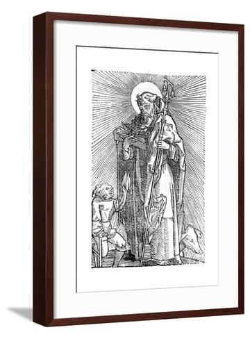 St Anthony the Great, Egyptian Aesthetic--Framed Art Print