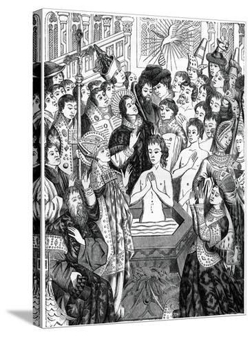 Baptism of King Clovis, Rheims--Stretched Canvas Print