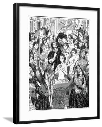 Baptism of King Clovis, Rheims--Framed Art Print