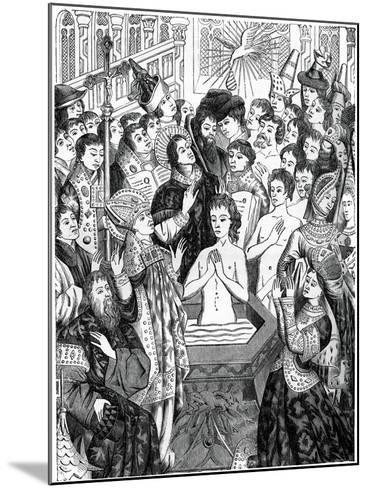 Baptism of King Clovis, Rheims--Mounted Giclee Print
