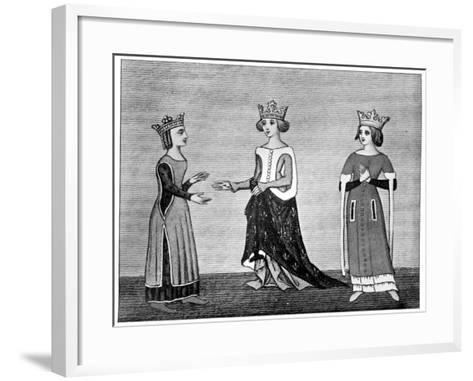 Ladies' Dress, 14th Century--Framed Art Print