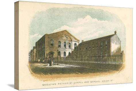 Wesleyan Methodist Chapel and School, Union Street, Rochdale, Manchester, 1876--Stretched Canvas Print