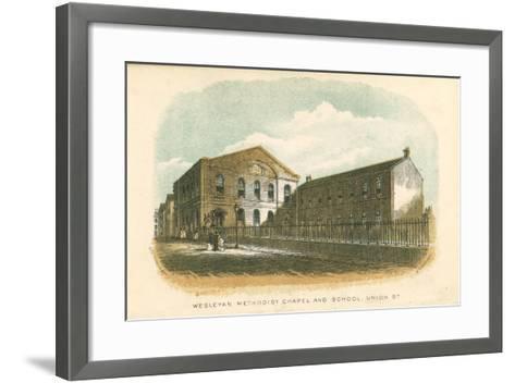 Wesleyan Methodist Chapel and School, Union Street, Rochdale, Manchester, 1876--Framed Art Print