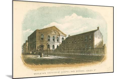 Wesleyan Methodist Chapel and School, Union Street, Rochdale, Manchester, 1876--Mounted Giclee Print