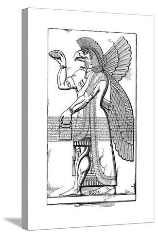 Nisroch, Assyrian God, Mid 19th Century-Joseph Bonomi the Younger-Stretched Canvas Print