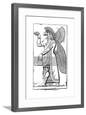 Nisroch, Assyrian God, Mid 19th Century-Joseph Bonomi the Younger-Framed Art Print