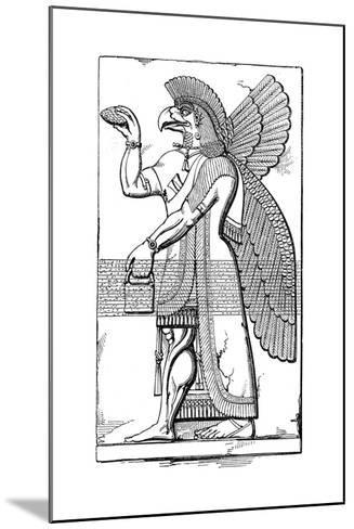 Nisroch, Assyrian God, Mid 19th Century-Joseph Bonomi the Younger-Mounted Giclee Print