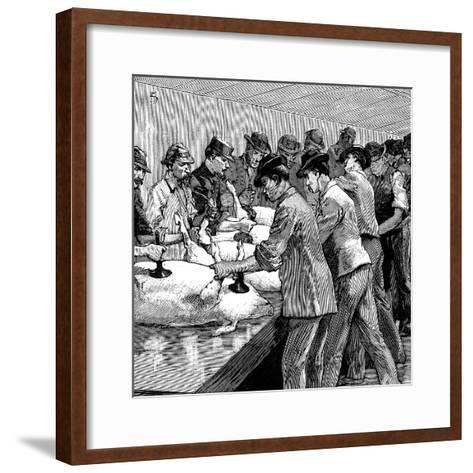 Armour Company's Pig Slaughterhouse, Chicago, Illinois, USA, 1892--Framed Art Print
