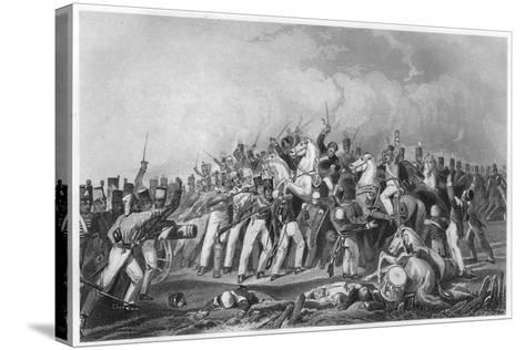 Defeat of the Sealkote Mutineers by General Nicholson's Column, 1857--Stretched Canvas Print