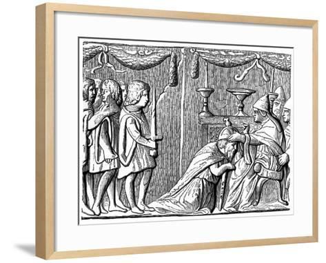 Coronation of the Emperor Sigismund by Pope Eugene Iv, 15th Century--Framed Art Print