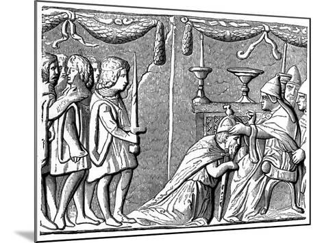 Coronation of the Emperor Sigismund by Pope Eugene Iv, 15th Century--Mounted Giclee Print