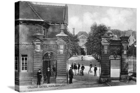 The Entrance to Marlborough College, Marlborough, Wiltshire, Early 20th Century--Stretched Canvas Print