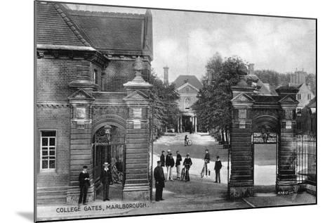 The Entrance to Marlborough College, Marlborough, Wiltshire, Early 20th Century--Mounted Giclee Print