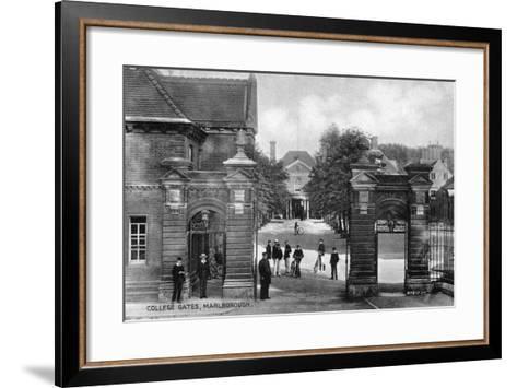 The Entrance to Marlborough College, Marlborough, Wiltshire, Early 20th Century--Framed Art Print
