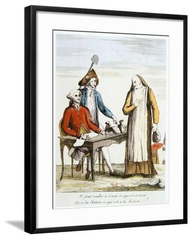 French Revolution 1789: Anti-Clericalism--Framed Art Print