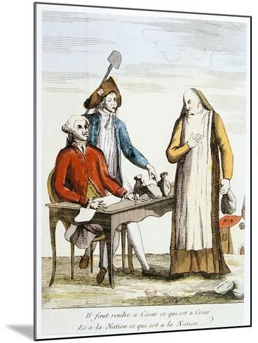 French Revolution 1789: Anti-Clericalism--Mounted Giclee Print