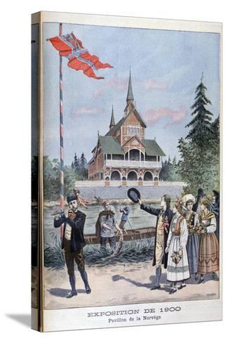 The Norwegian Pavilion at the Universal Exhibition of 1900, Paris, 1900--Stretched Canvas Print