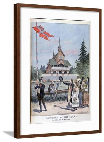 The Norwegian Pavilion at the Universal Exhibition of 1900, Paris, 1900--Framed Art Print
