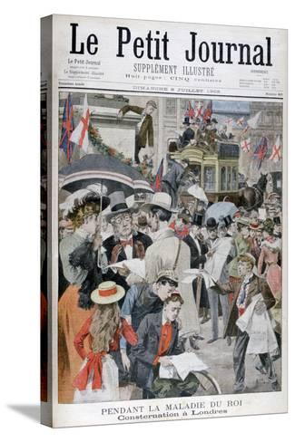 News of King Edwards VII's Illness in London, 1902--Stretched Canvas Print
