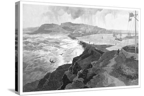 Newcastle, from Nobby's Head, New South Wales, Australia, 1886--Stretched Canvas Print