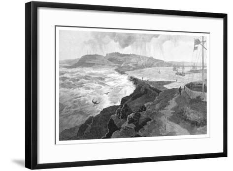 Newcastle, from Nobby's Head, New South Wales, Australia, 1886--Framed Art Print