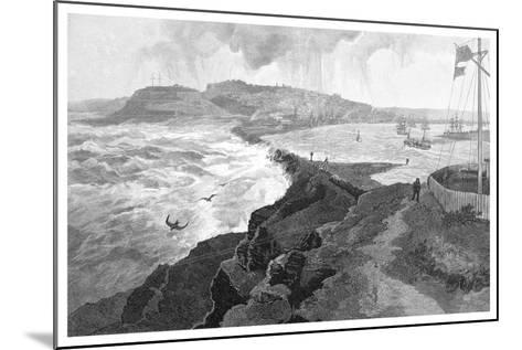 Newcastle, from Nobby's Head, New South Wales, Australia, 1886--Mounted Giclee Print