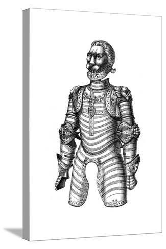 Armour Ornamented with Lions, Supposed to Be That of Of Louis XII, 15th Century--Stretched Canvas Print
