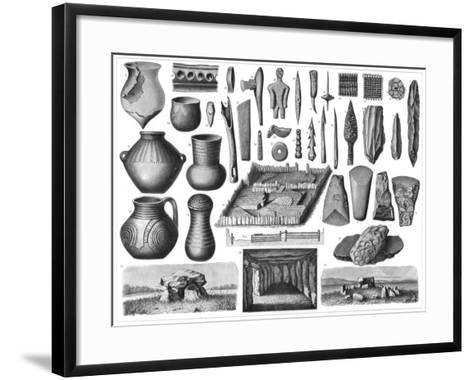 Neolithic Antiquities, 1901--Framed Art Print