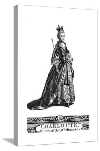 Queen Charlotte, Queen Consort of George III of the United Kingdom--Stretched Canvas Print