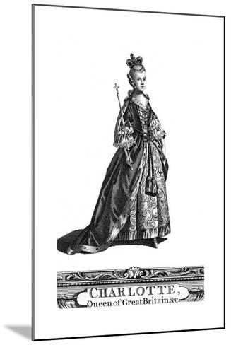 Queen Charlotte, Queen Consort of George III of the United Kingdom--Mounted Giclee Print