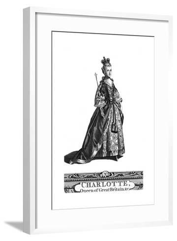 Queen Charlotte, Queen Consort of George III of the United Kingdom--Framed Art Print