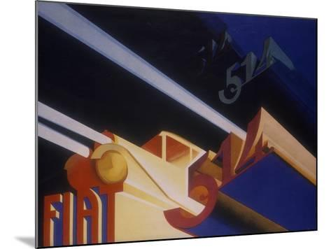 Poster Advertising Fiat Cars, 1931--Mounted Giclee Print