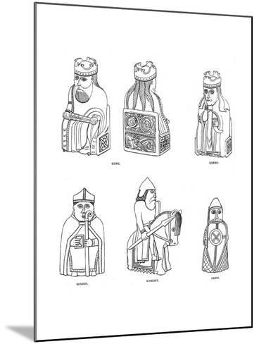 Bone Chessmen of Scandinavian Design, 12th or 13th Century--Mounted Giclee Print