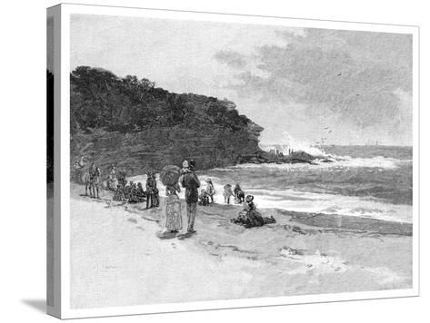 Coogee Beach, Sydney, New South Wales, Australia, 1886--Stretched Canvas Print