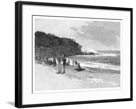 Coogee Beach, Sydney, New South Wales, Australia, 1886--Framed Art Print