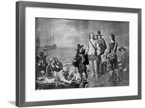Hampden and Pym Prevented from Emigrating to New England by Order of the Government, 1926--Framed Art Print