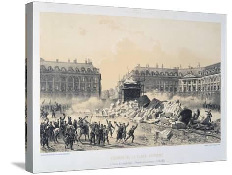 Colonne De La Place Vendome, Paris Commune, May 1871--Stretched Canvas Print
